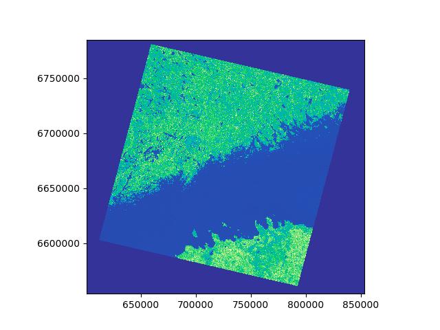 Masking / clipping raster — Intro to Python GIS documentation