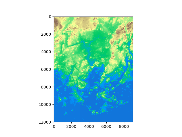 Creating a raster mosaic — Intro to Python GIS documentation